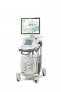 The Xario 200 Platinum delivers the clinical benefits of high-end ultrasound technology to a wide range of exams with user-friendly features, a small footprint and the visualization benefits of Toshiba Medical's Superb Micro-vascular Imaging (SMI).