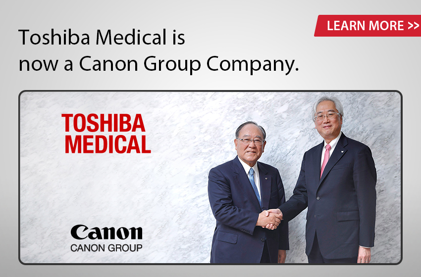 Toshiba Medical is now a Canon Group Company.