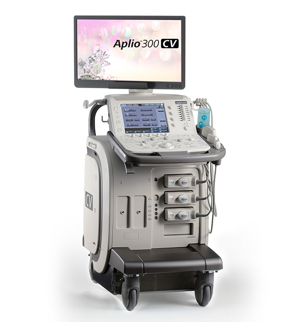 Canon Medical Systems Ultrasound Cardiology Machine Aplio 300 CV Platinum